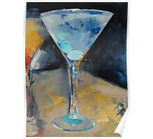 Blue Art Martini Poster