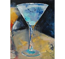 Blue Art Martini Photographic Print