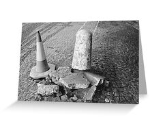 Non Identical Bollard Twins  Greeting Card