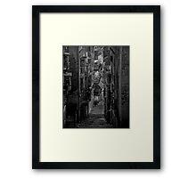 Mono Street Study ---- Valletta malta Framed Print