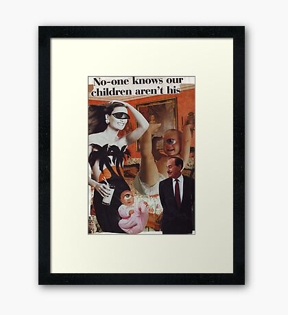 No-One Knows Framed Print