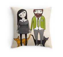 Father's Day with Fur Babies Throw Pillow