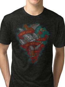 I Aim To Misbehave! Tri-blend T-Shirt