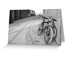 space for one's bike Greeting Card