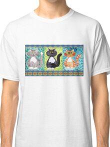 Three Whimisical Kitties Classic T-Shirt