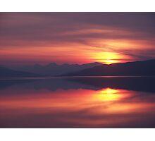 Loch rannoch sunset zoom Photographic Print