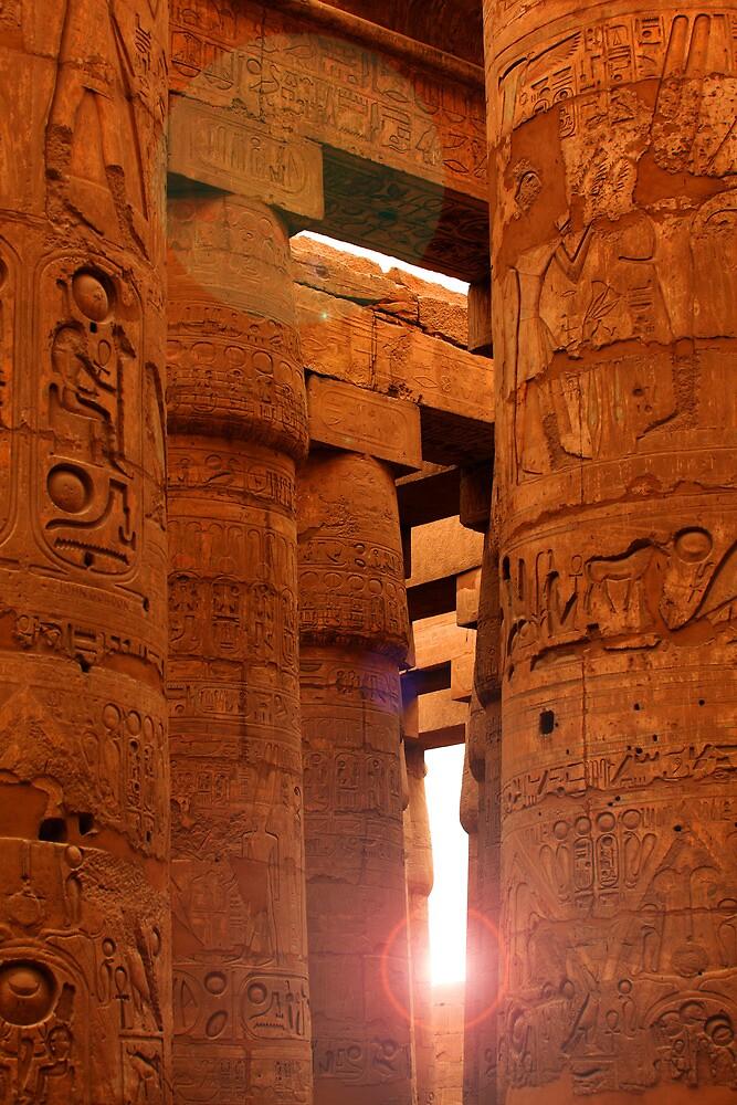 Sun in Karnak Temple by Tom Prokop