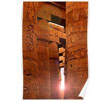 Sun in Karnak Temple Poster