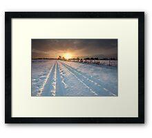 Following the Farmer Framed Print