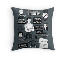 Horrible Quotes Throw Pillow