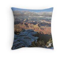 Grand Canyon Snow Throw Pillow