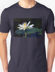 White Aquatic Lily Unisex T-Shirt