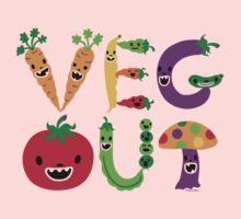 Veg Out - light colors One Piece - Short Sleeve