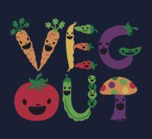 Veg Out - light colors Kids Tee