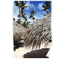 Sunshades on Caribbean Beach Poster