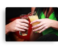 Drink in The Club Canvas Print