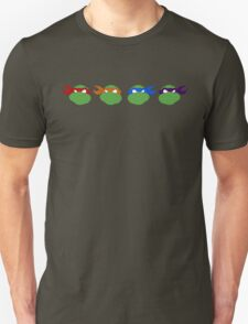 TMNT graphic heads Unisex T-Shirt