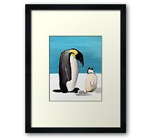Penguin Love Framed Print