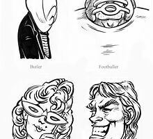 Caricature Sketches 2 by Chris Baker