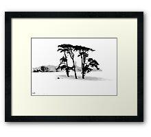 Beddingham Trees Framed Print