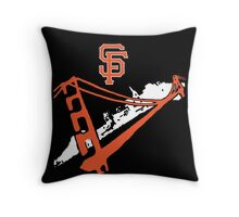 San Francisco Giants Stencil White Throw Pillow