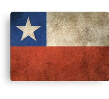 Old and Worn Distressed Vintage Flag of Chile Canvas Print