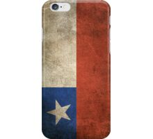 Old and Worn Distressed Vintage Flag of Chile iPhone Case/Skin