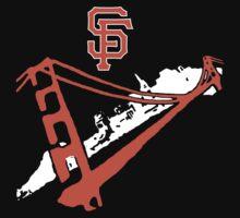 San Francisco Giants Stencil White T-Shirt
