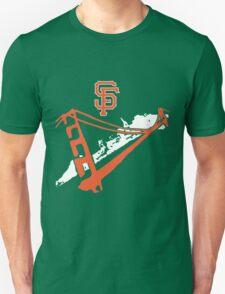 San Francisco Giants Stencil White Unisex T-Shirt