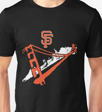 San Francisco Giants Stencil White Unisex T-Shirt