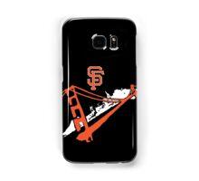 San Francisco Giants Stencil White Samsung Galaxy Case/Skin