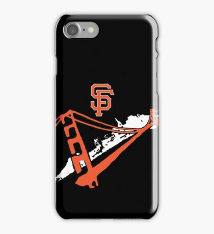 San Francisco Giants Stencil White iPhone Case/Skin