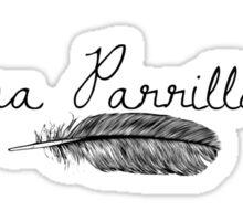 Lana Parrilla af (Black Text) Sticker