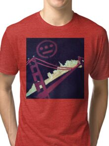 Stencil Golden Gate San Francisco Tri-blend T-Shirt