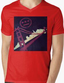 Stencil Golden Gate San Francisco Mens V-Neck T-Shirt