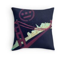 Stencil Golden Gate San Francisco Throw Pillow