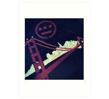 Stencil Golden Gate San Francisco Art Print