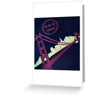 Stencil Golden Gate San Francisco Greeting Card