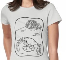 Black Crab Womens Fitted T-Shirt