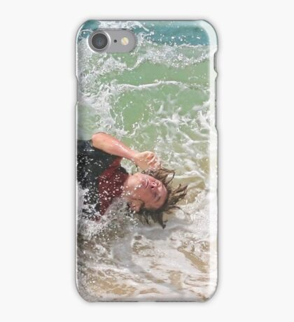 Taking a nap on the shore break iPhone Case/Skin