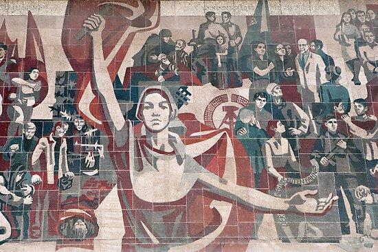 Communist propaganda in Dresden, Germany by leenvdb
