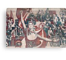 Communist propaganda in Dresden, Germany Canvas Print