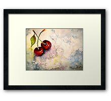 Cherries.. Pure Heaven Framed Print