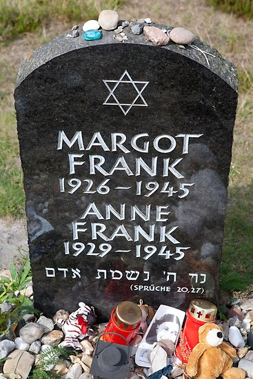 Quot Grave Of Anne Frank And Her Sister Margot Quot Posters By