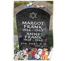 Grave of Anne Frank and her sister Margot Poster