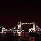 Tower Bridge At Night  by pixeljar