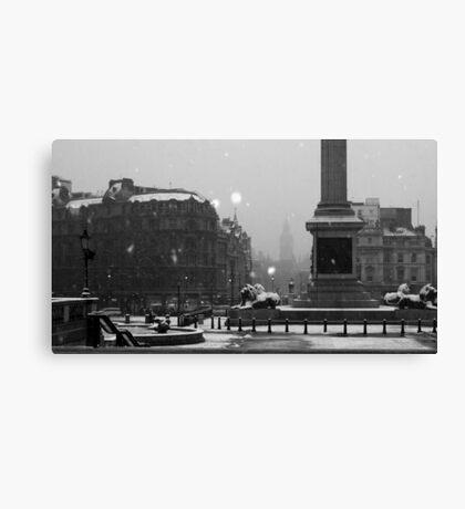 Trafalgar Square Snow Canvas Print