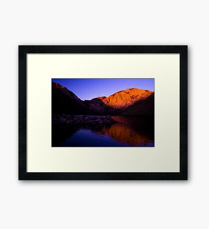 Dawn at Convict Lake Framed Print