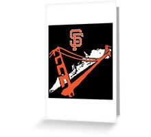 San Francisco Giants Stencil Black Background Greeting Card