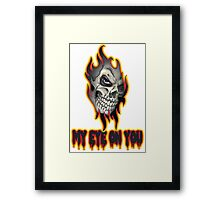 Cool Skull Design T-shirt Framed Print